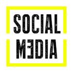 Der Begriff Social Media in dem gelben Quadrat aus dem Logo von Konzept27