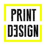 Der Begriff Printdesign in dem gelben Quadrat aus dem Logo von Konzept27