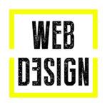 Der Begriff Webdesign in dem gelben Quadrat aus dem Logo von Konzept27